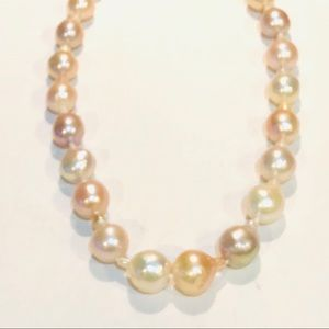 Jewelry - Huge Pink Freshwater Cultured Drip Pearl Necklace